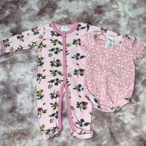 💜Baby girl footed pajama